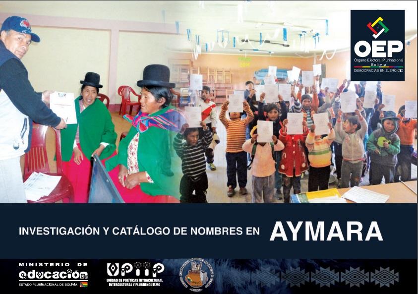 Investigación y catálogo de nombre en aymara