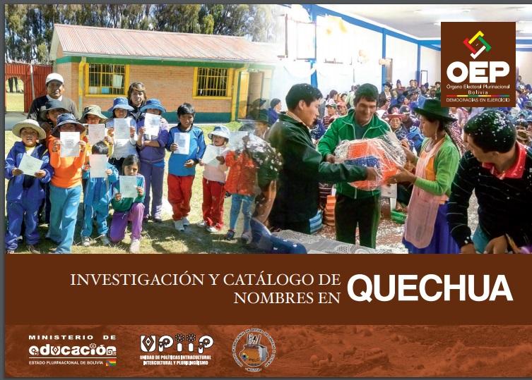 Investigación y catálogo de nombres en quechua