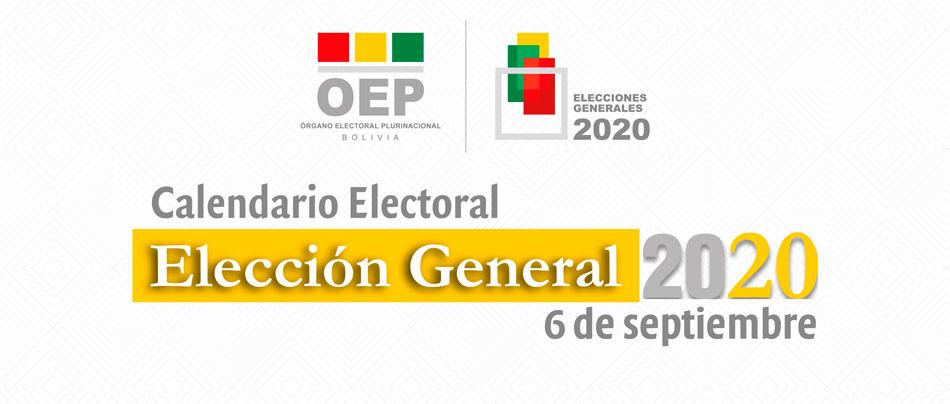 El TSE reanuda las actividades del Calendario Electoral para la realización de las Elecciones Generales del 6 de septiembre de 2020