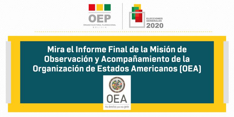 Misión de Observación de la OEA califica el proceso electoral como equitativo y libre y destaca la independencia del TSE